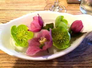 Hellebore on the farmhouse table